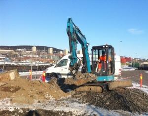 Prosjekt 4,Graving og montering av kum CargoNet Oslo